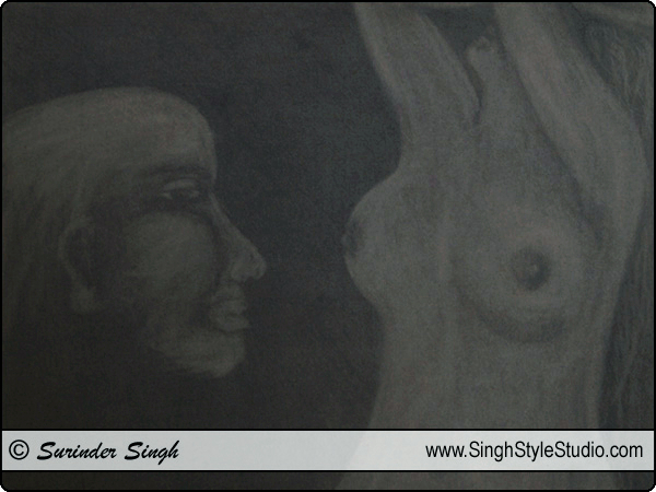 Figurative Art by Fine Artist Surinder Singh, Delhi, India