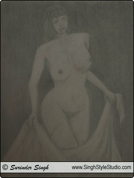Nude Art by Fine Artist Surinder Singh, Delhi, India